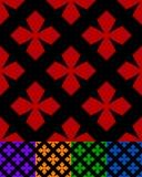 Упрощенный дизайн классической фольклорной ткани, вышивка, ковер Стоковые Фото