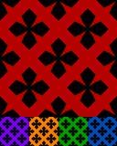 Упрощенный дизайн классической фольклорной ткани, вышивка, ковер Стоковое Изображение