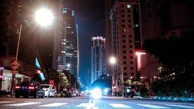 Упущение nighttime Куалаа-Лумпур движения сток-видео