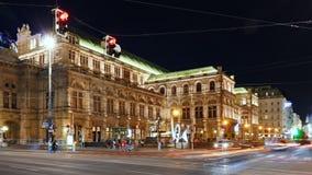 Упущение nighttime оперы Вены сток-видео