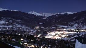 Упущение nighttime Summit County Колорадо акции видеоматериалы