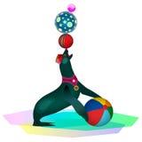 Уплотнение цирка с шариками Стоковые Фотографии RF