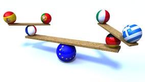 Уравновешение евро стоковое изображение