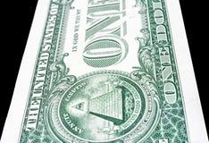 Уравновешенная перспектива снятая долларовой банкноты Стоковые Изображения RF