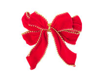 уравновешивание изолированное золотом красное ribbom w стоковое изображение