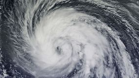 Ураган над океаном , спутниковый взгляд иллюстрация штока