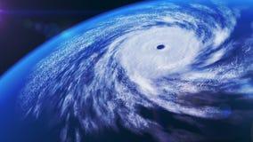 Ураган над океаном, 3D анимация иллюстрация штока