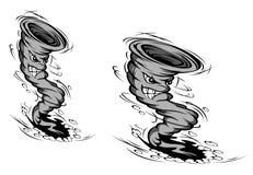 ураган шаржа иллюстрация штока
