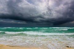 Ураган irma грозового облако моря Стоковое Изображение