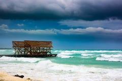 Ураган irma грозового облако моря Стоковые Изображения RF