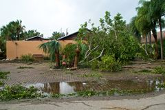 Ураган irma повредил свойство во Флориде стоковые фотографии rf