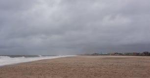 Ураган Sandy причаливает берегу Нью-Джерси стоковое изображение