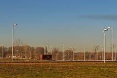Урбанизированная земля, подготавливает для того чтобы построить снабжение жилищем Стоковое фото RF