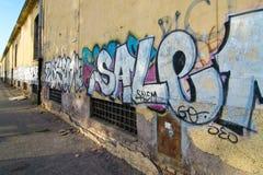 Урбанская надпись на стенах Стоковое Фото