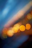 Урбанские абстрактные света ночи Стоковое фото RF
