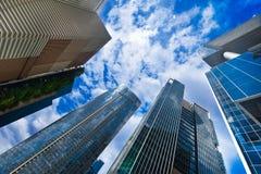 Урбанский ландшафт с самомоднейшими небоскребами Стоковая Фотография