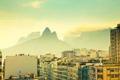 Урбанский ландшафт Рио Де Жанеиро Бразилия Стоковые Фото