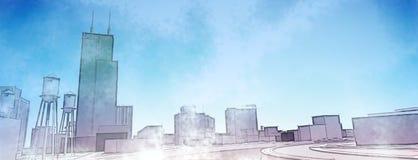 Урбанский эскиз Стоковая Фотография RF