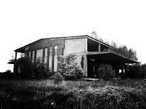 Урбанско покинутые разрушенные зданием руины дома фабрики стоковое изображение rf