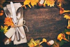 Урегулирование места осени благодарения стоковые фотографии rf