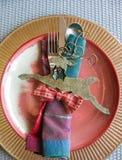 Урегулирование места праздничного сезона рождества и Нового Года Стоковые Изображения