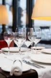 Урегулирование места в ресторане Стоковое Изображение RF