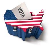 урна для избирательных бюллетеней мы иллюстрация вектора