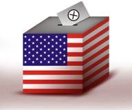 урна для избирательных бюллетеней иллюстрация вектора
