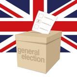 Урна для избирательных бюллетеней для всеобщих выборов Великобритании Стоковое Изображение