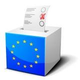 Урна для избирательных бюллетеней EC Стоковое Изображение RF