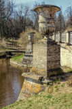Урны моста Visconti в Павловске паркуют Стоковая Фотография