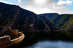 Уровень воды 76% запруды 2016-04-09 Kouga Стоковое Фото