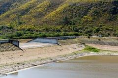 Уровень воды 2016-12-16 запруды Loerie Стоковое Изображение RF