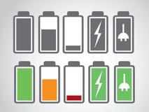 Уровень обязанности значка батареи Стоковое фото RF