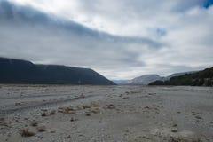 Уровень отлива в реке южного острова Новой Зеландии Стоковая Фотография RF