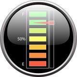уровень топлива прибора полный Стоковое Изображение