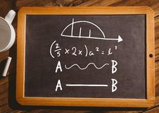 уровнения математики на классн классном с мелом Стоковые Фотографии RF