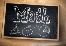 уровнения математики на классн классном с мелом Стоковое фото RF