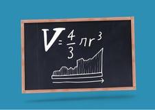 уровнения математики на классн классном с мелом Стоковая Фотография RF