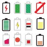 Уровни силы энергии батареи стоковая фотография rf