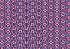 Уродская голубая ретро флористическая картина Стоковая Фотография