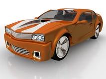 урожай автомобиля предпосылки легко включил путь померанца вне для того чтобы vector Иллюстрация вектора