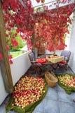 Урожай Яблока распространенный на террасе Стоковая Фотография