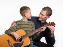 уроки гитары Стоковая Фотография RF