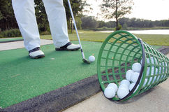 уроки гольфа Стоковые Изображения