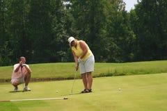 урок гольфа Стоковая Фотография