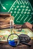 Урок землеведения экспедиции обзора стоковые изображения rf