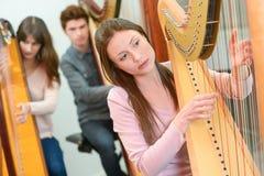 Урок музыки на консерватории Стоковые Фотографии RF