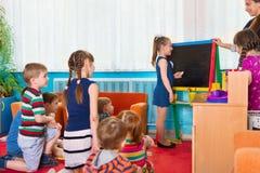 Урок на детском саде Стоковая Фотография RF