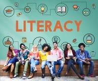 Урок уча концепцию образования знания грамотности Стоковые Изображения